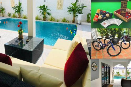 Villa 4 Bedrooms, swimming pool, pool table, bikes, games...