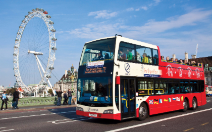 บัตรโดยสารรถบัสเที่ยวชมเมืองลอนดอน